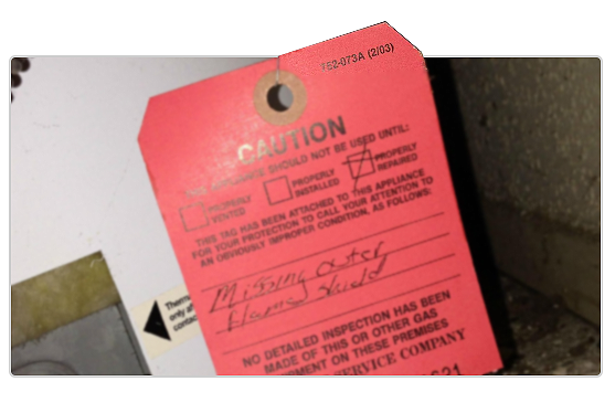 What does it mean when you receive a gas company red tags